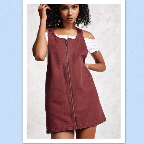 6cca94625c0 Brand new Forever 21 overall dress color (brick)